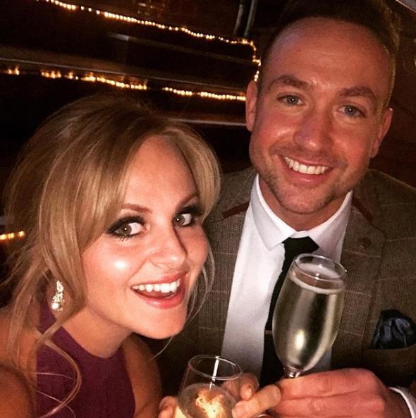 Tina O'Brien and fiance Adam Crofts