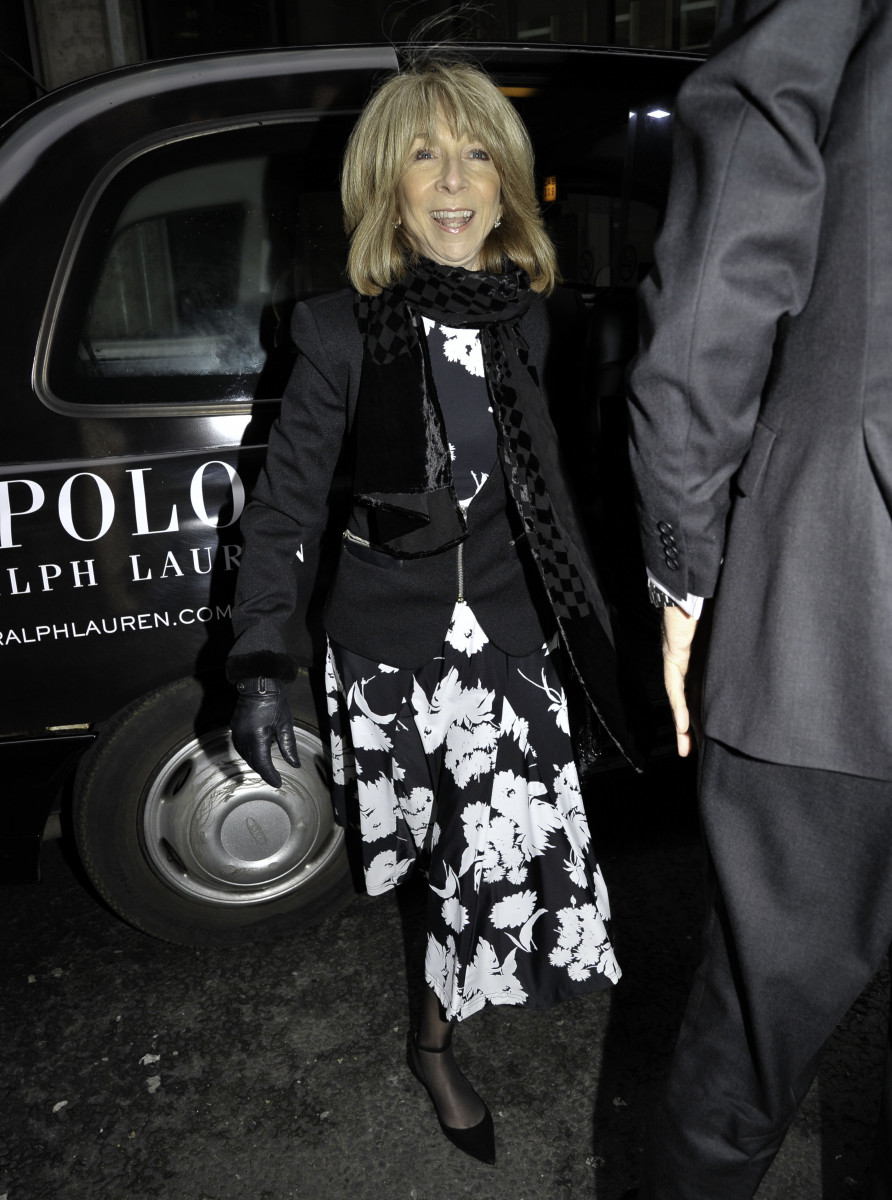 Coronation Street cast pictured arriving at Tina O'Brien wedding in Manchester City Centre. - Helen Worth