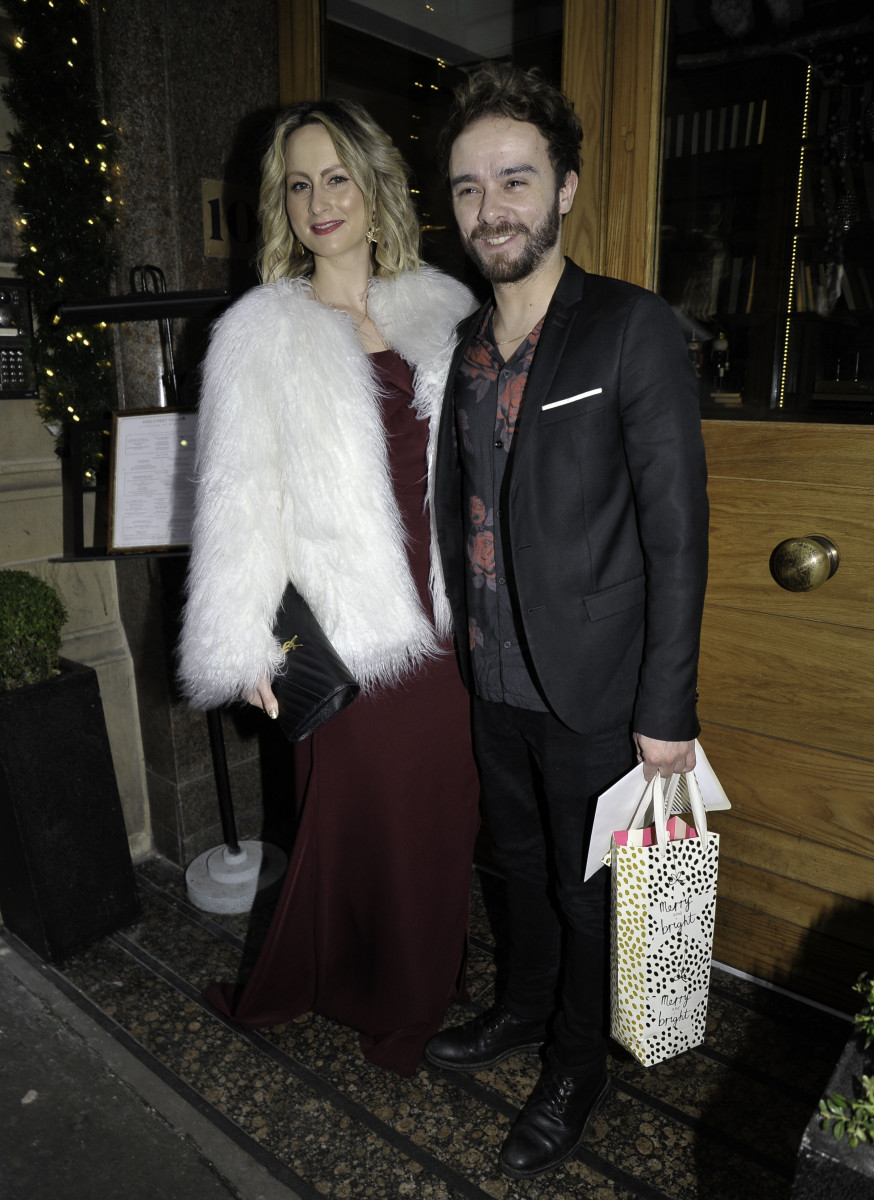 Coronation Street cast pictured arriving at Tina O'Brien wedding in Manchester City Centre - Jack P Shepherd