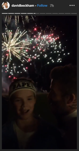 Beckham New Year's Eve party (Credit: Instagram)