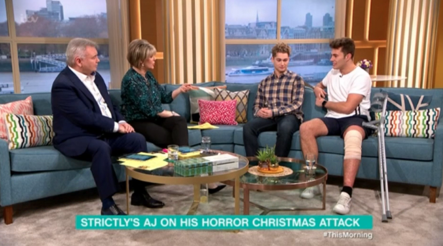AJ Pritchard and brother Curtis on This Morning