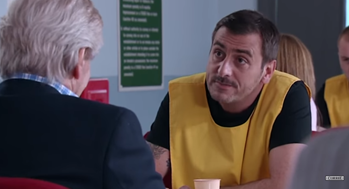 Peter Barlow in prison Corrie Credit: ITV/YouTube