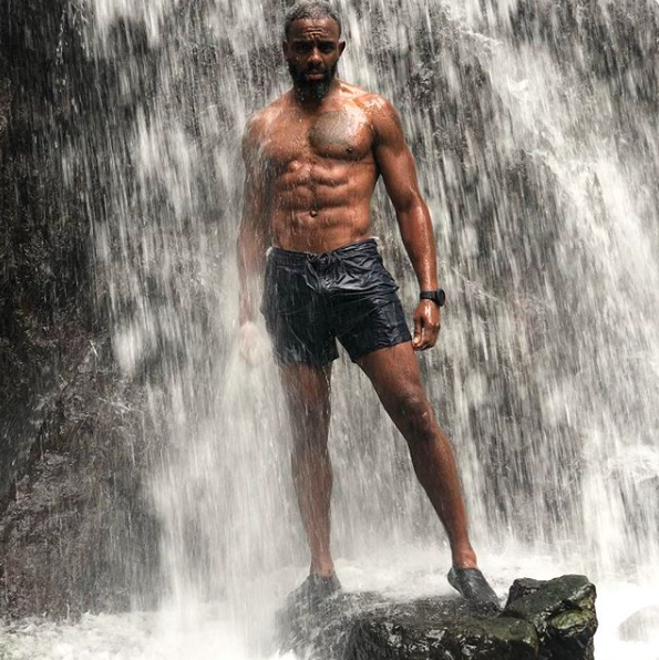 Charles Venn waterfall topless