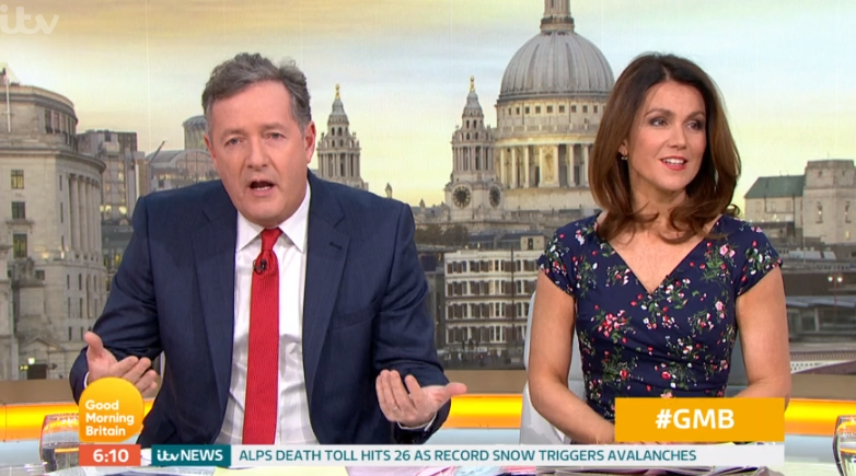 Piers Morgan reveals truth behind hospital pic after health scare