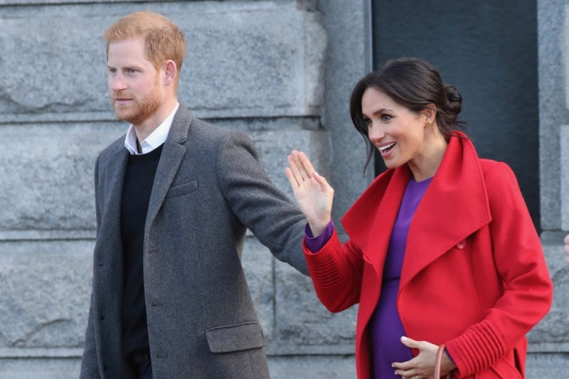 Pregnant Meghan lets slip due date details as she shows off baby bump