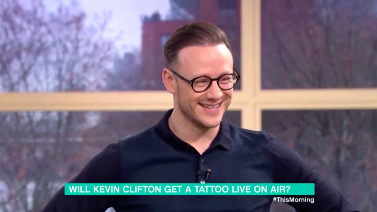 Strictly winner Kevin Clifton gets a tattoo live on This Morning