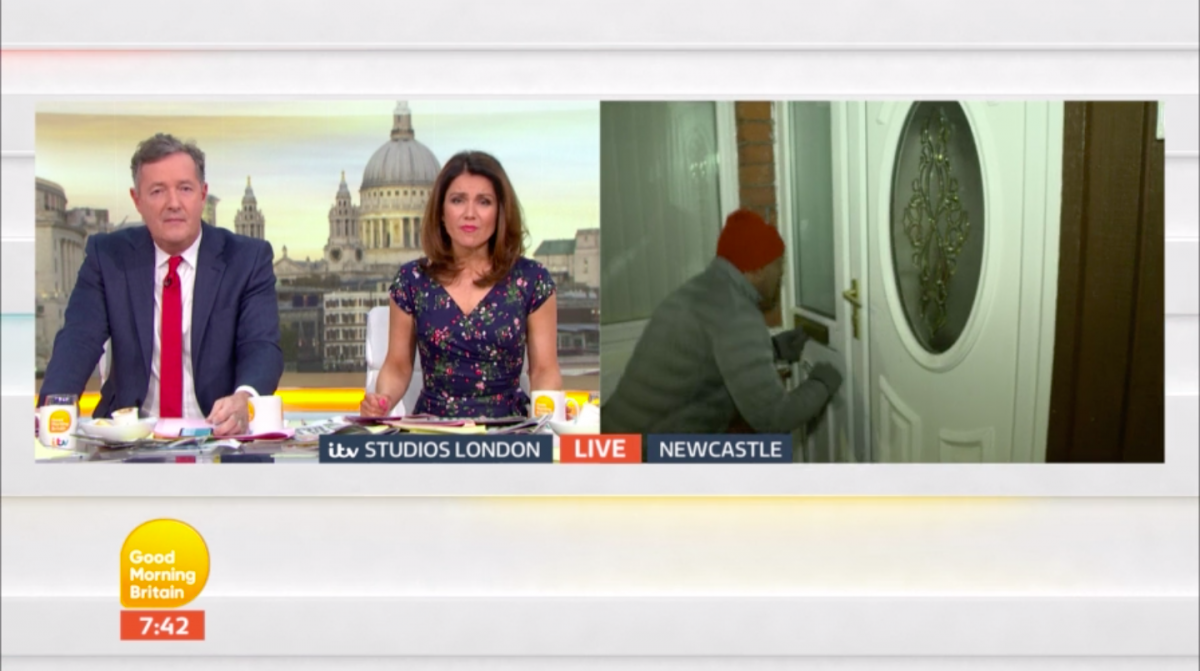 GMB presenter suffers awkward gaffe as he encounters NAKED guest on air