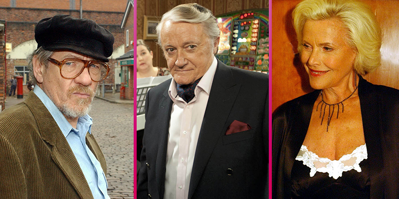 Seven film actors who have appeared in Coronation Street