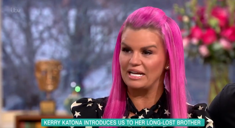 Kerry Katona introduces long-lost brother on This Morning
