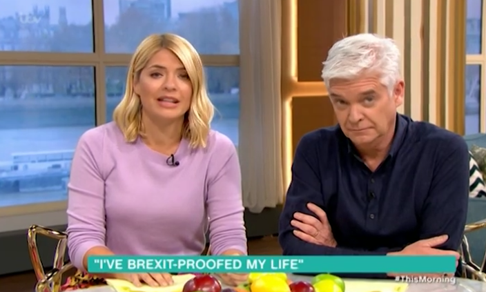 Phillip Schofield shocked at woman hoarding food because of Brexit
