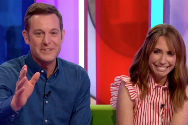 The One Show accidentally flashed a rude word on screen during live show