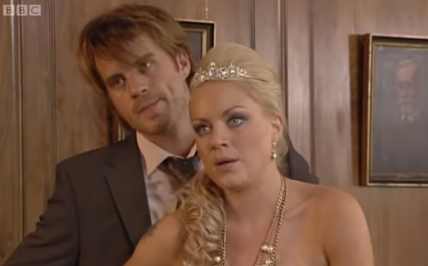 Sean and Roxy EastEnders wedding Credit: YouTube/BBC