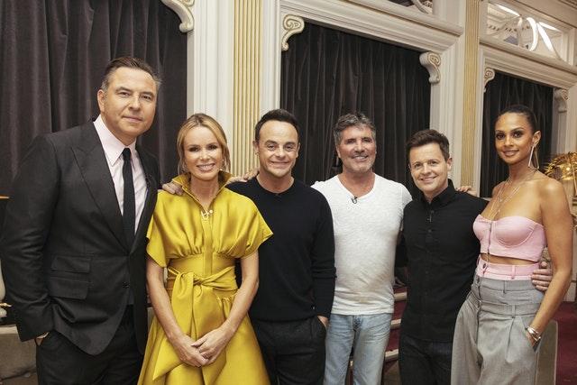 From left ITV's Britain's Got Talent judges David Walliams, Amanda Holden, presenter Anthony McPartlin, Simon Cowell, presenter Declan Donnelly and Alesha Dixon (Tom Dymond/Syco/Thames/PA)