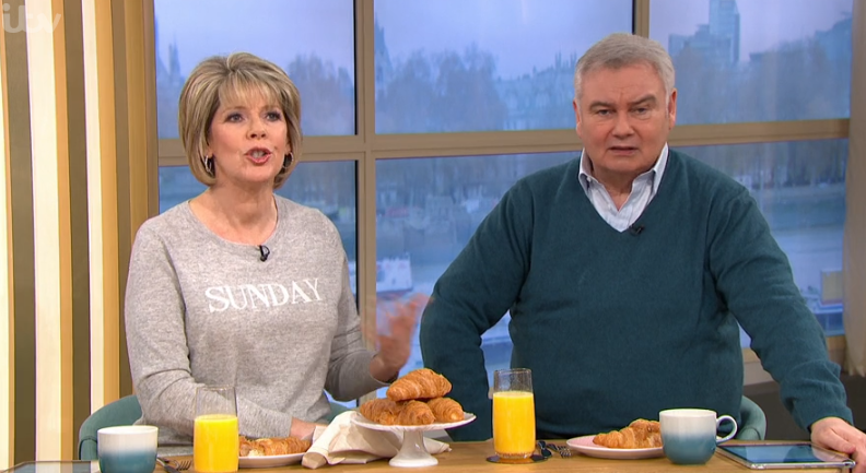Ruth Langsford and Eamonn Holmes on This Morning on Sunday