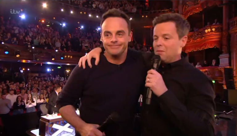 Ant McPartlin emotional as BGT child star tells him she 'missed him'