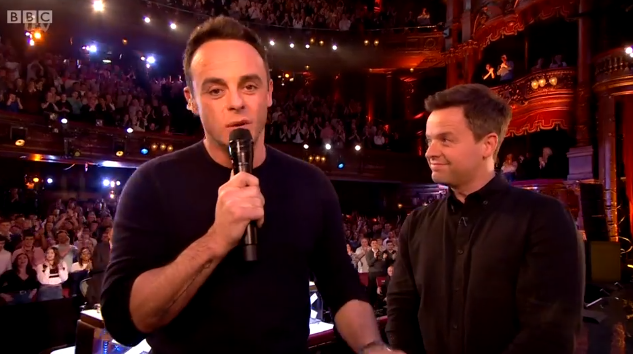 Ant McPartlin and Dec Donnelly at the NTAs