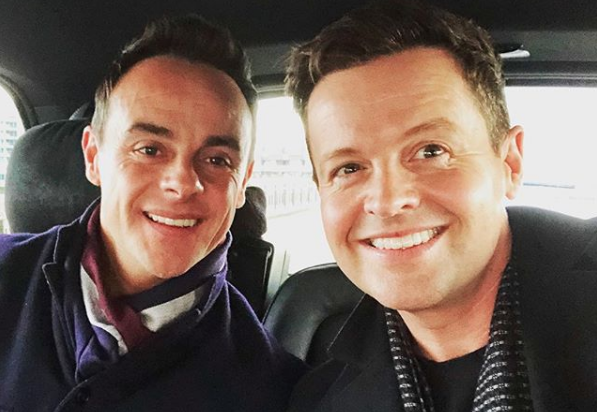 Ant McPartlin, Declan Donnelly (Credit: Instagram @antanddec)