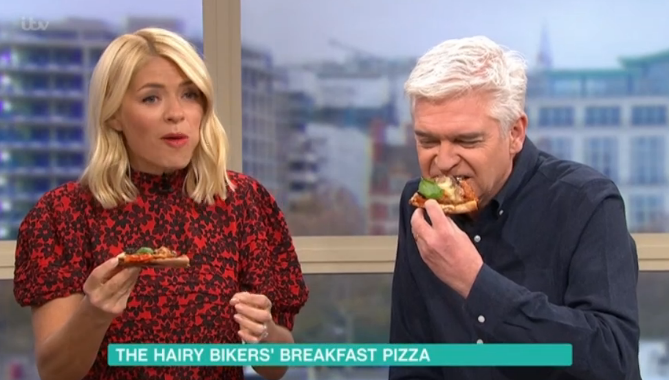 This Morning Phil Holly Pizza Credit: ITV