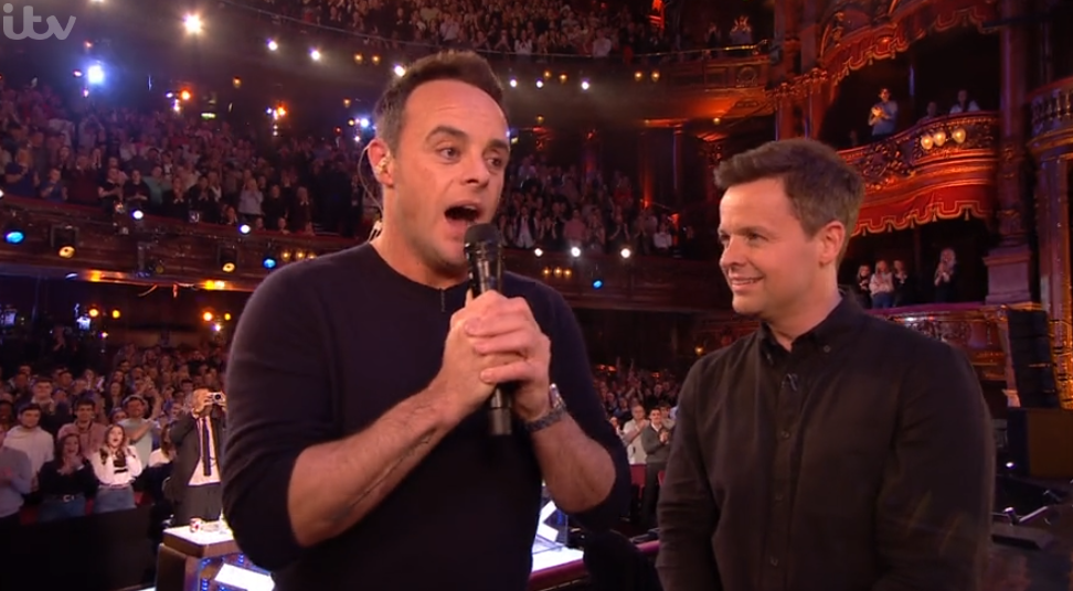 Ant McPartlin and Dec Donellly at the NTAs