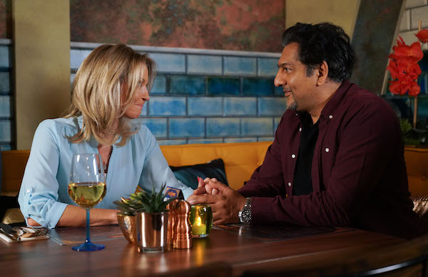 Kathy wants to give things a go with Masood (Credit: BBC One)
