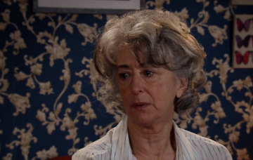 Evelyn emotional Credit: ITV