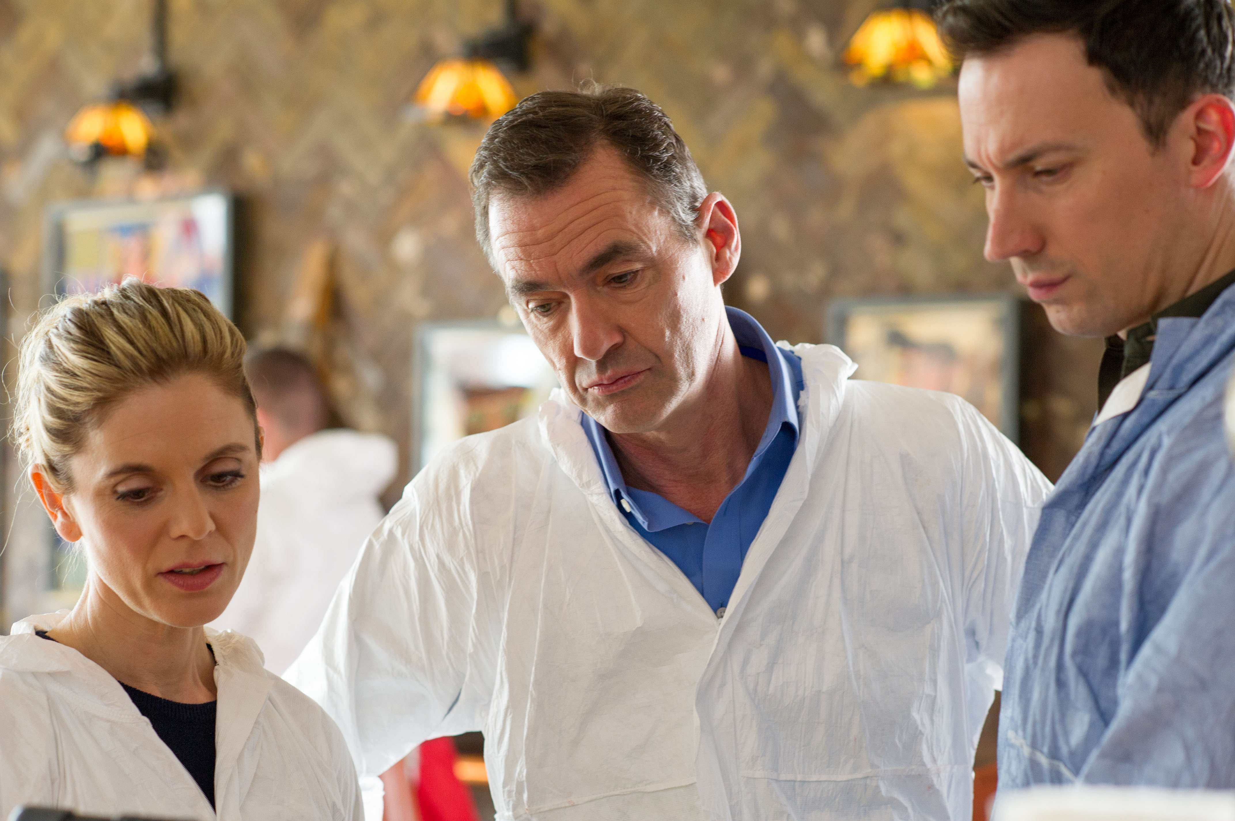 WARNING: Embargoed for publication until 00:00:01 on 28/12/2018 - Programme Name: Silent Witness XXII - TX: n/a - Episode: n/a (No. 2) - Picture Shows: Dr Nikki Alexander (EMILIA FOX), Dr Thomas Chamberlain (RICHARD LINTERN), Dr Jack Hodgson [DAVID CAVES] - (C) BBC - Photographer: Sally Mais