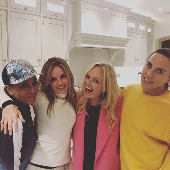 Spice Girls (Credit: Instahram @therealgerihalliwell)