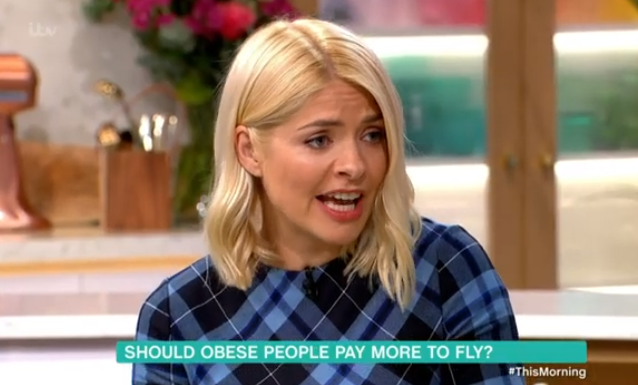 Holly Willoughby hits out at guest for involving her in fat shaming debate
