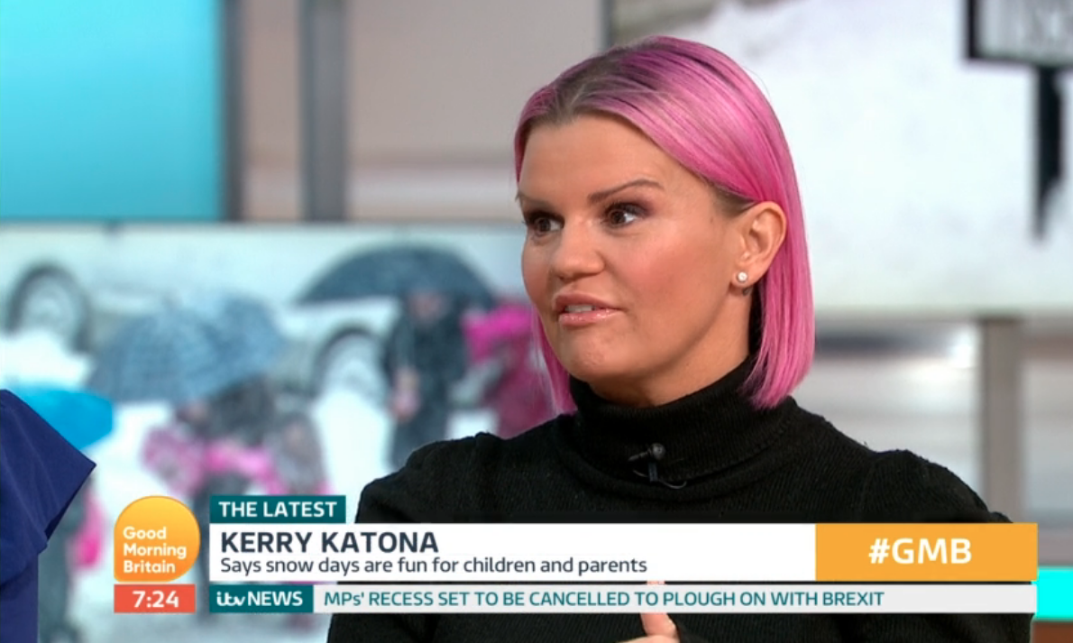 Kerry Katona fires back after GMB viewers slam her over school snow day solution