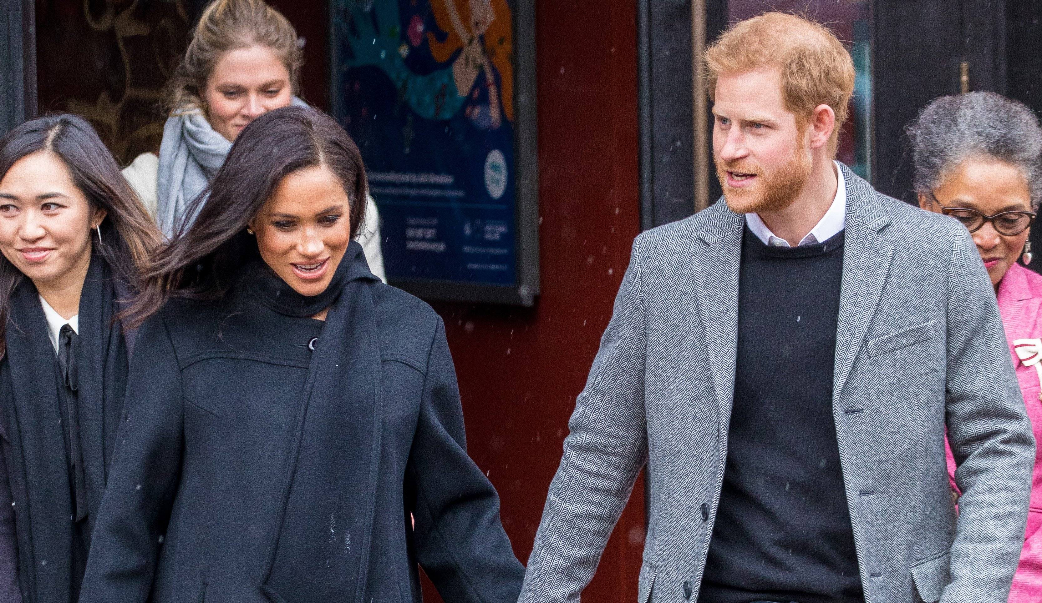 Pregnant Meghan sparks concern as she wears heels in the snow during outing with Harry