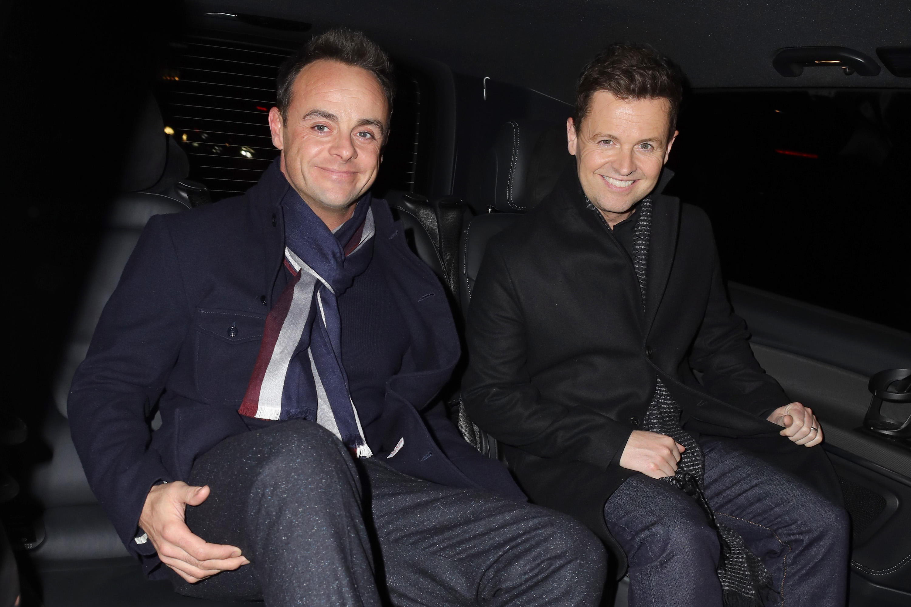 Ant and Dec mock Amanda Holden as they recreate sultry shower photo