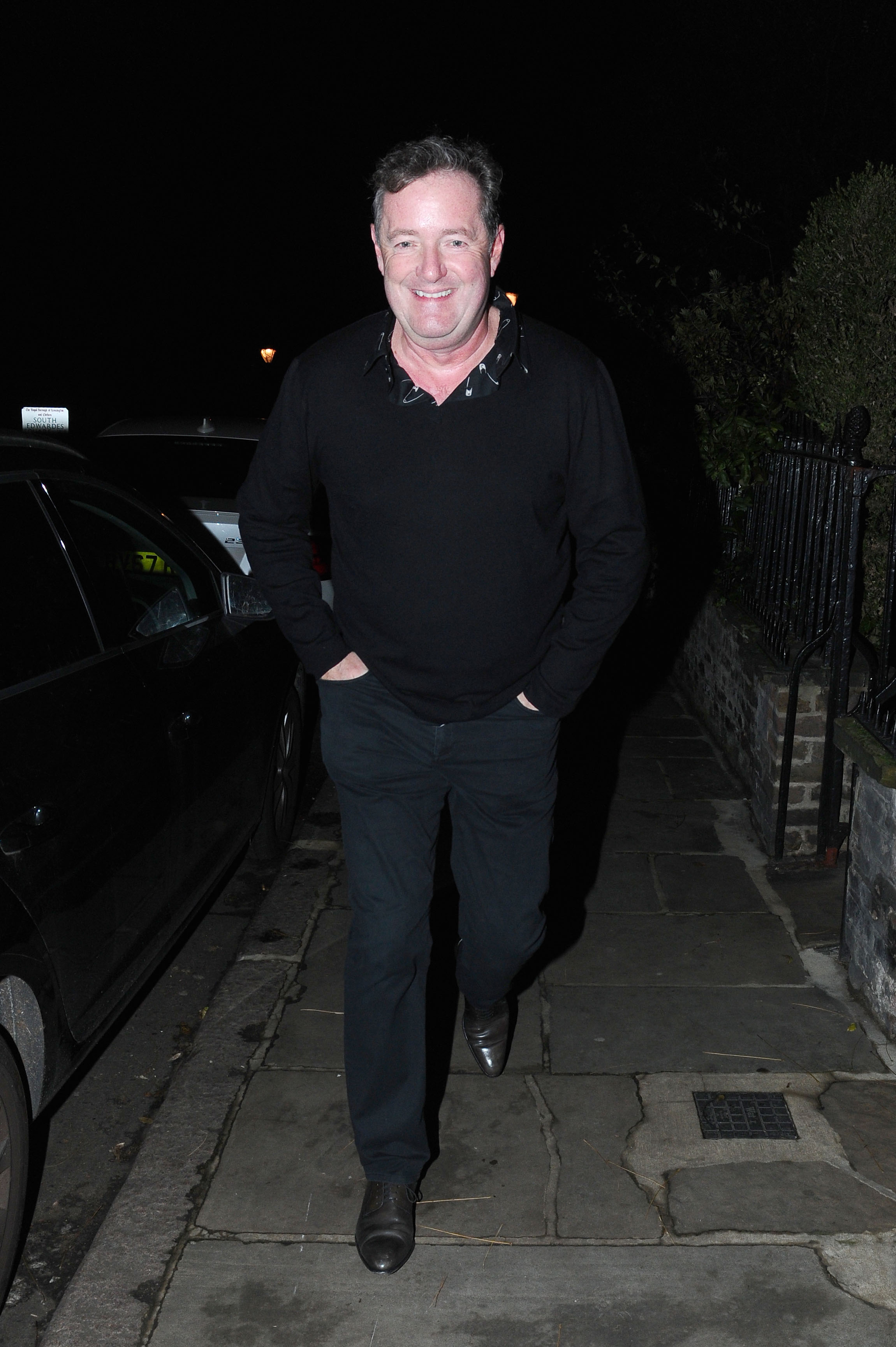 Celebrities Attend Piers Morgan Christmas Party In Kensington Pictured: Piers Morgan Ref: SPL5051105 211218 NON-EXCLUSIVE Picture by: SplashNews.com Splash News and Pictures Los Angeles: 310-821-2666 New York: 212-619-2666 London: 0207 644 7656 Milan: 02 4399 8577 photodesk@splashnews.com World Rights