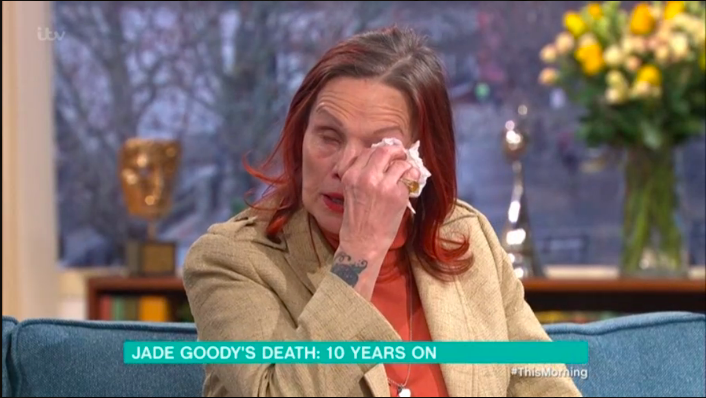 "Jade Goody's emotional mum cries on This Morning: ""It never gets easier"""