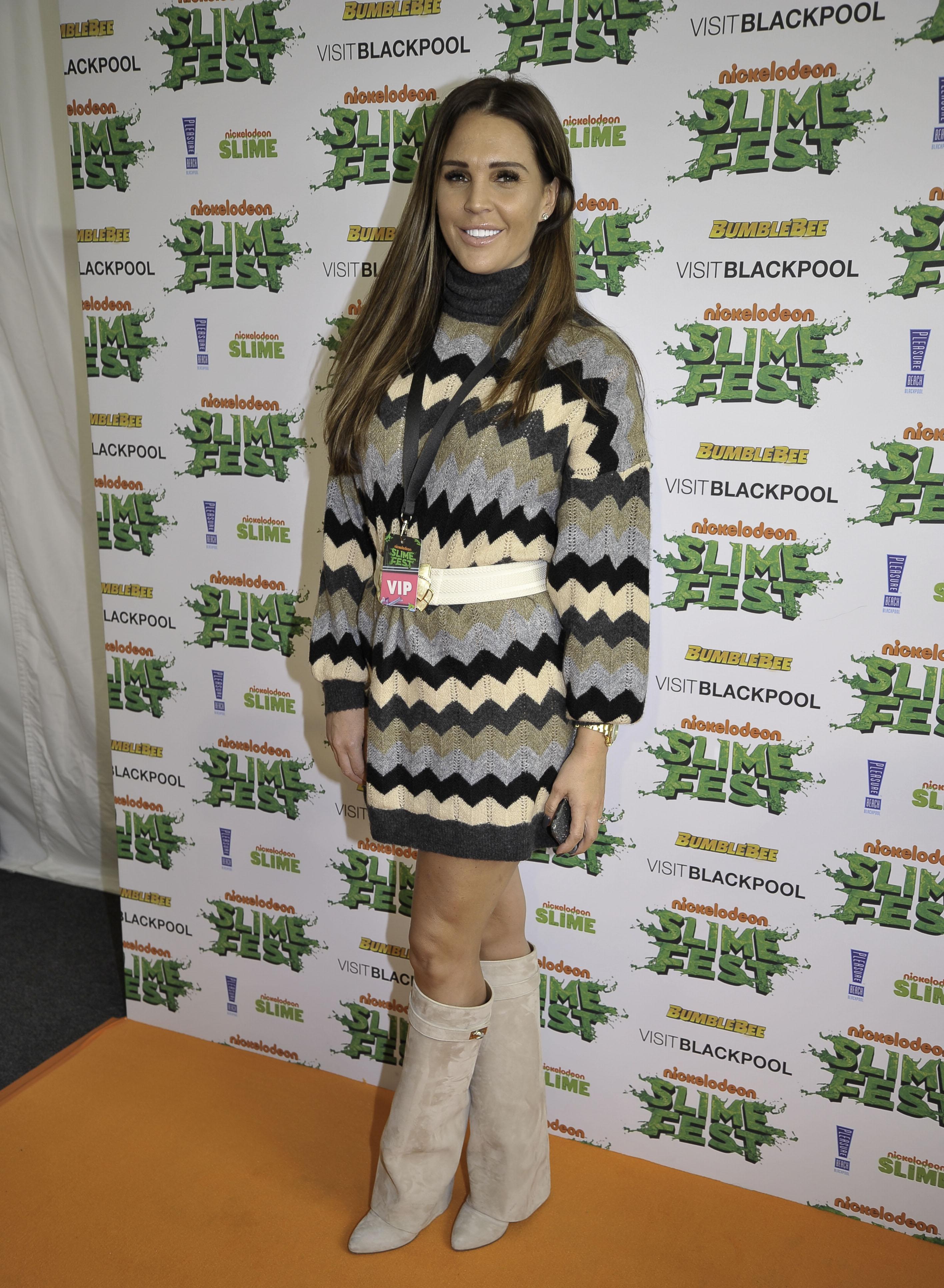 Danielle Lloyd Attends The Orange Carpet For Slimefest In Blackpool