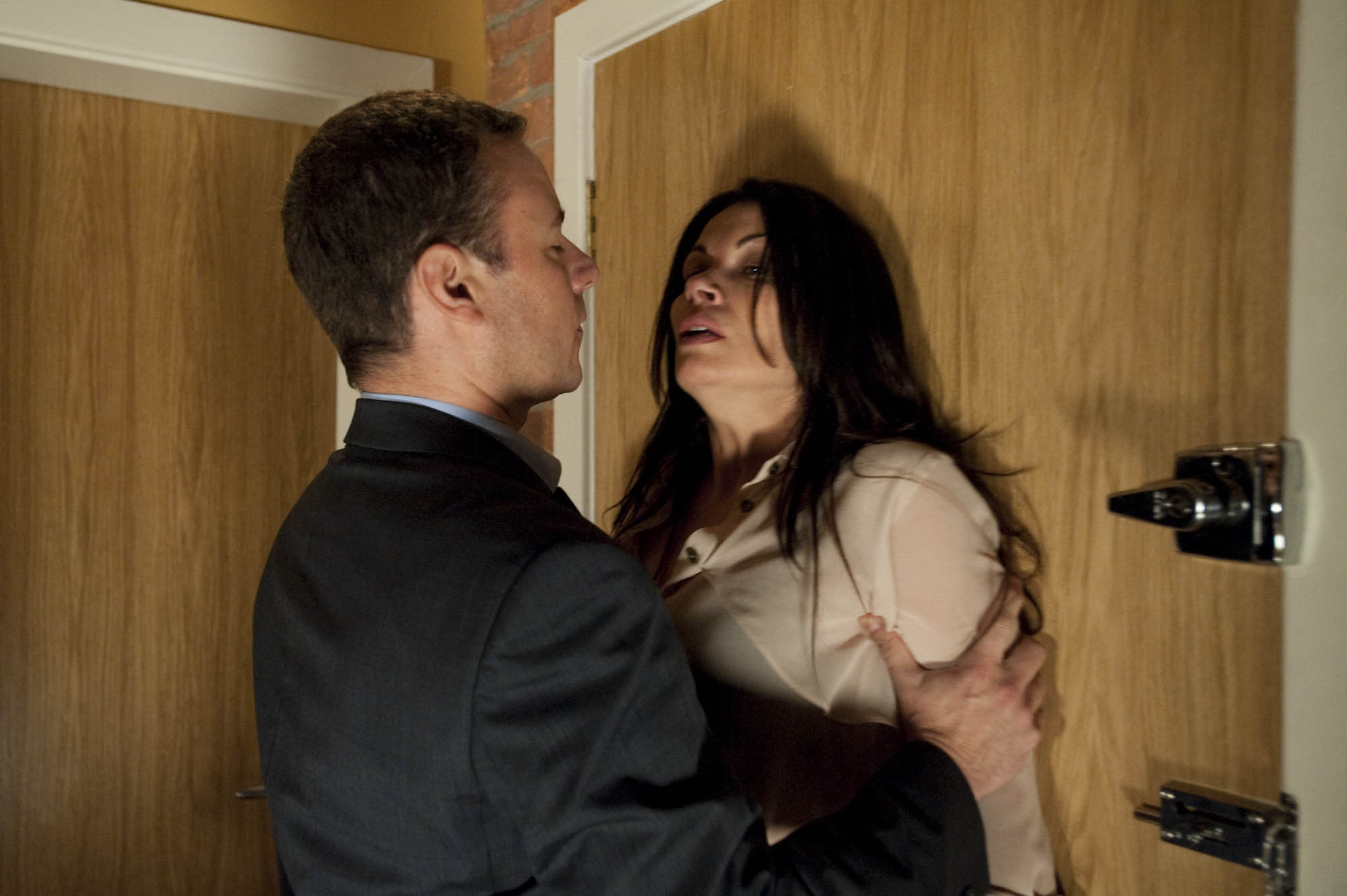 ditorial use only Mandatory Credit: Photo by ITV/REX/Shutterstock (1686313hs) Frank Foster [Andrew Lancel] is waiting for Carla Connor [Alison King] at the flat, having worked out why she's been seeing her solicitor. His suspicions and his blood boiling Frank refuses to walk away. Needing to get through to him Carla admits her feelings for Peter. Losing it Frank grabs her 'Coronation Street' TV Programme. - 2011