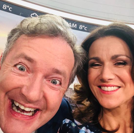 Piers Morgan, Susanna Reid (Credit: Twitter @susannareid100)