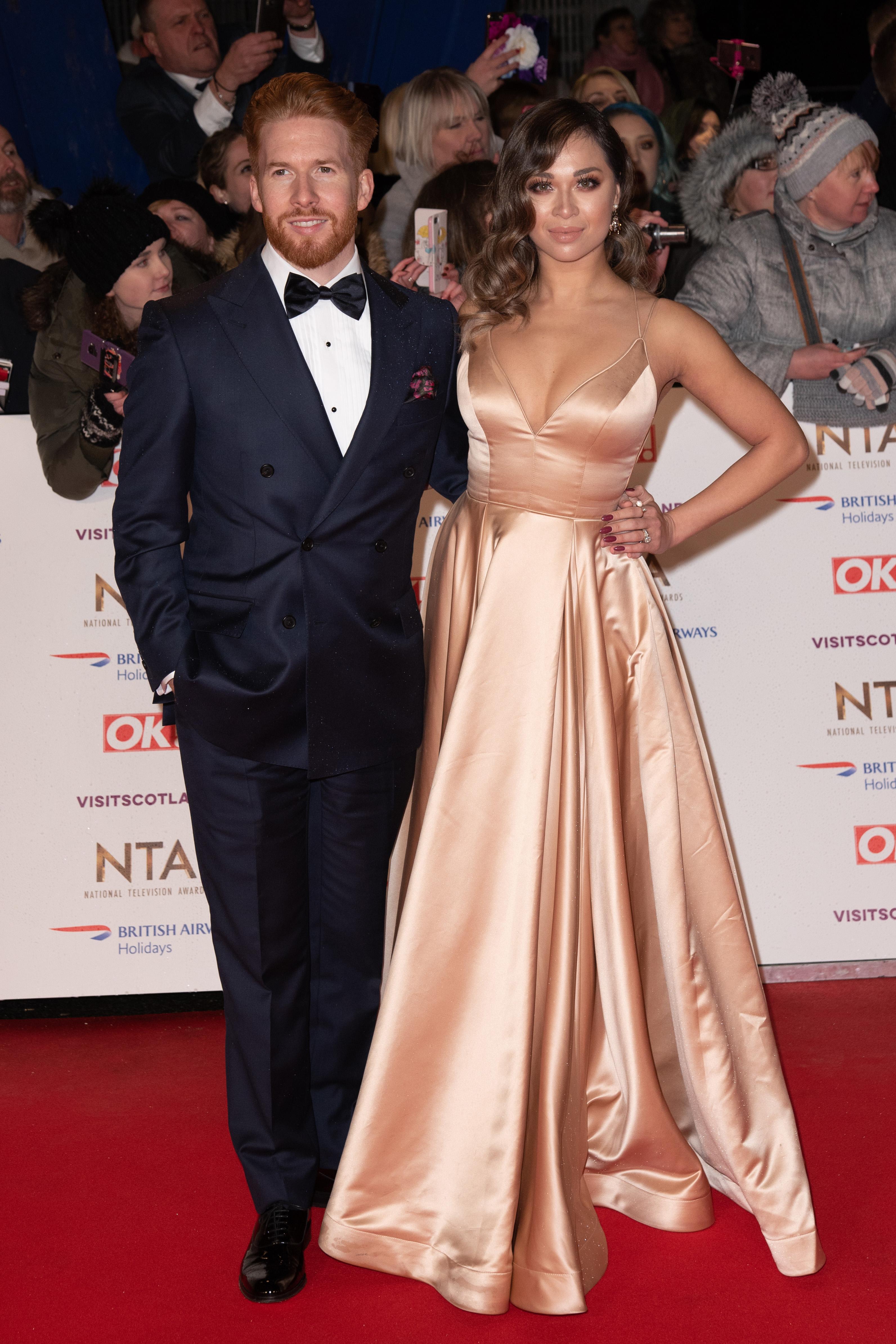 Neil and Katya Jones at the National Television Awards
