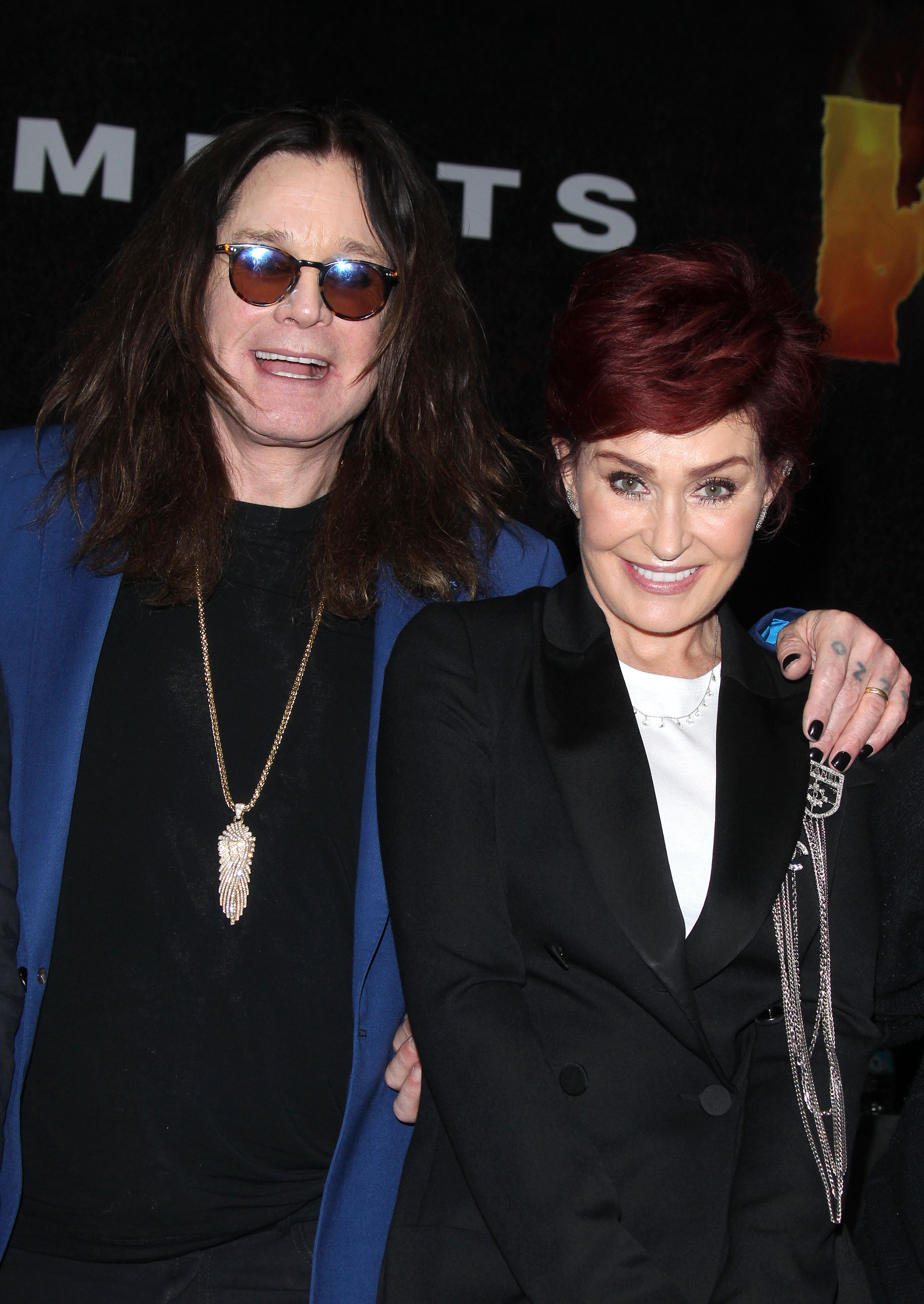Sharon Osbourne and Ozzy Osbourne have the most awkward hug ever while announcing Ozzfest meets Knotfest - Los Angeles