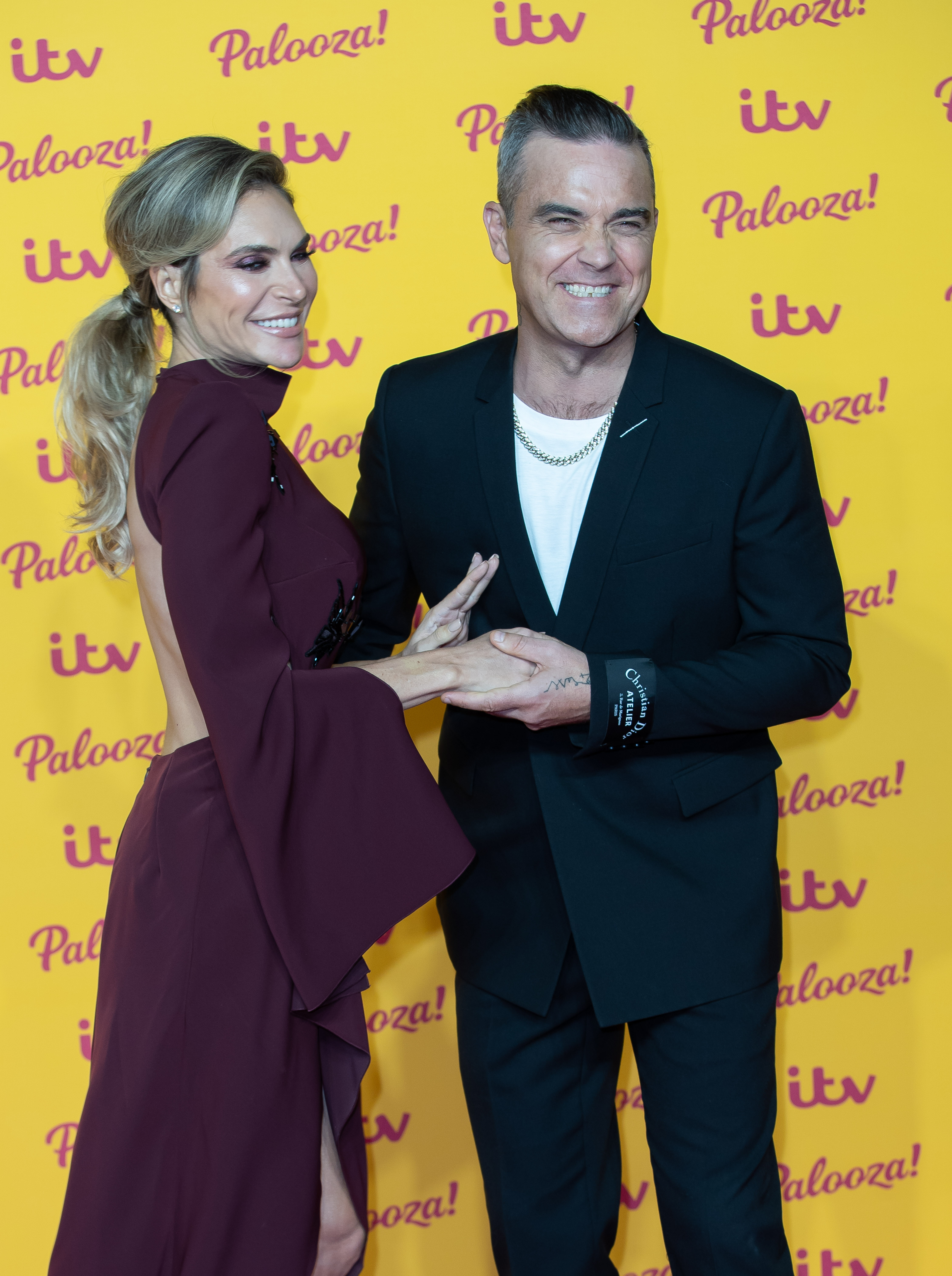 Robbie Williams and Ayda Field at The ITV Gala at the Royal Festival Hall