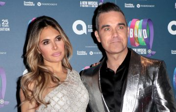 Ayda Field and Robbie Williams at the Gala Night for Take That The Band musical