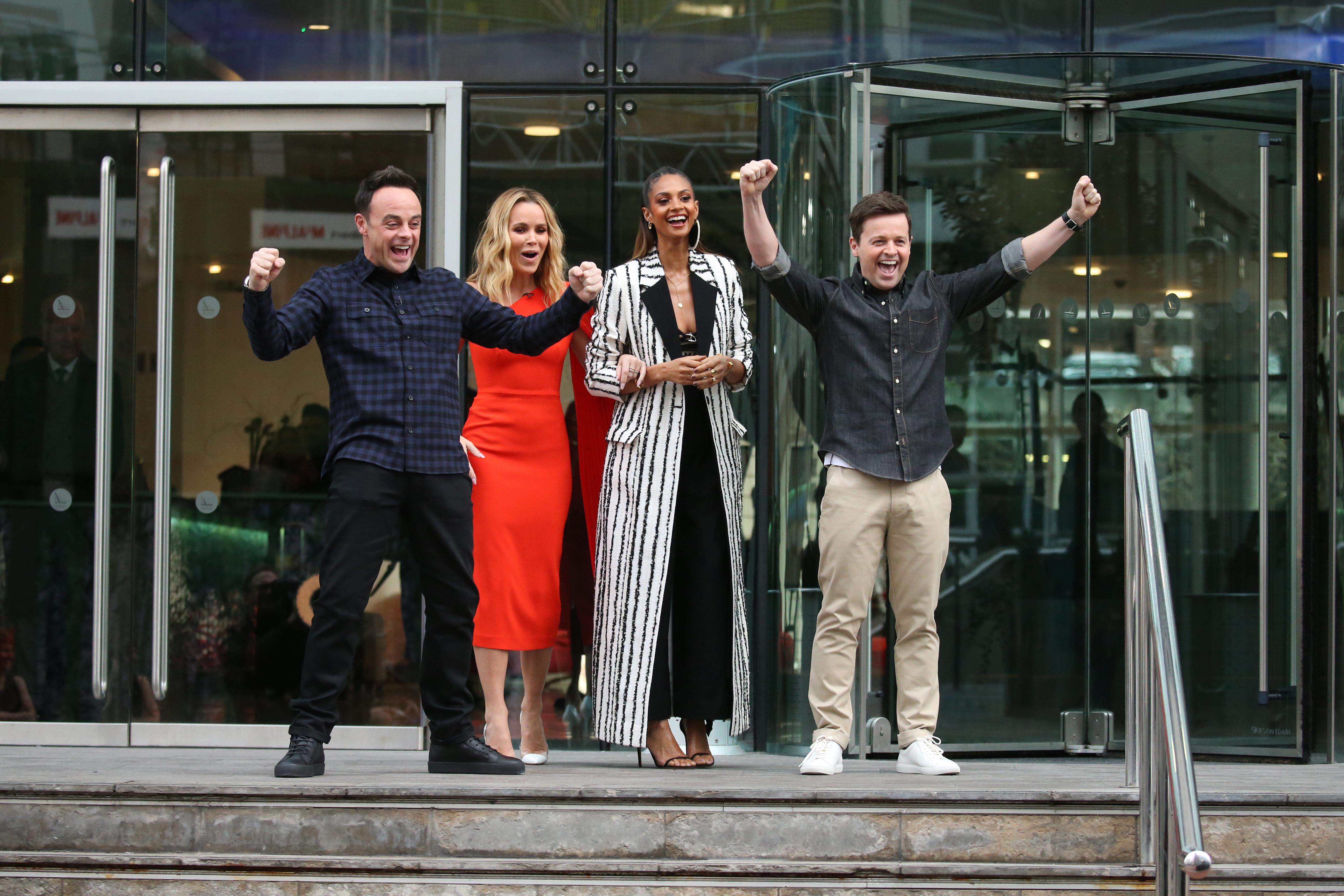 Ant McPartlin back to his old self as he larks around with Dec Donnelly at BGT auditions