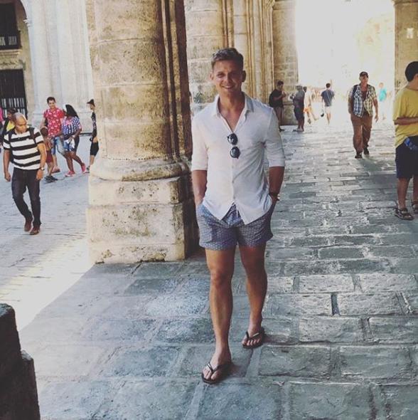 Jeff Brazier on his honeymoon in Cuba