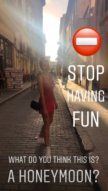 Jeff Brazier and wife on their honeymoon in Cuba