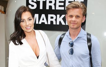 Jeff Brazier and wife Kate at the Hello! Magazine x Dover Street Market - 30th Anniversary Party
