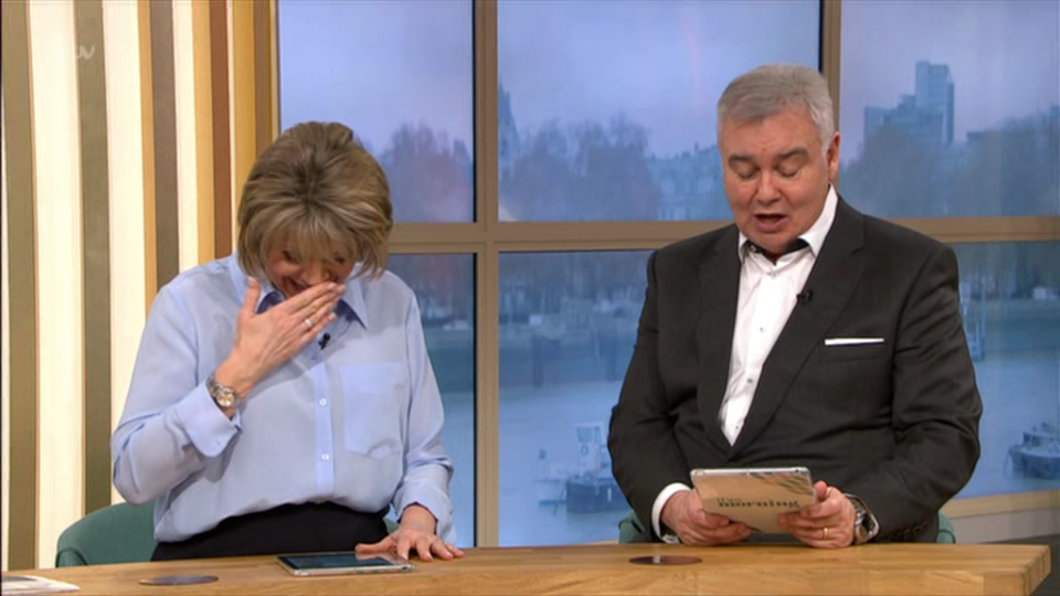 Eamonn Holmes and Ruth Langsford in fits of giggles over rude pudding on This Morning