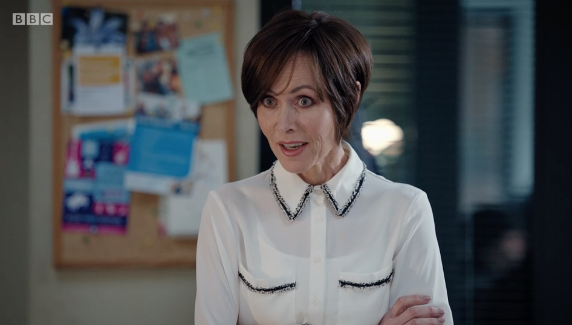 Casualty star reveals she was injured for real during Connie Beauchamp attack