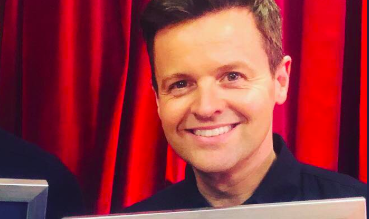 Proud dad Declan Donnelly takes a stroll with wife, baby and BGT pal David Walliams