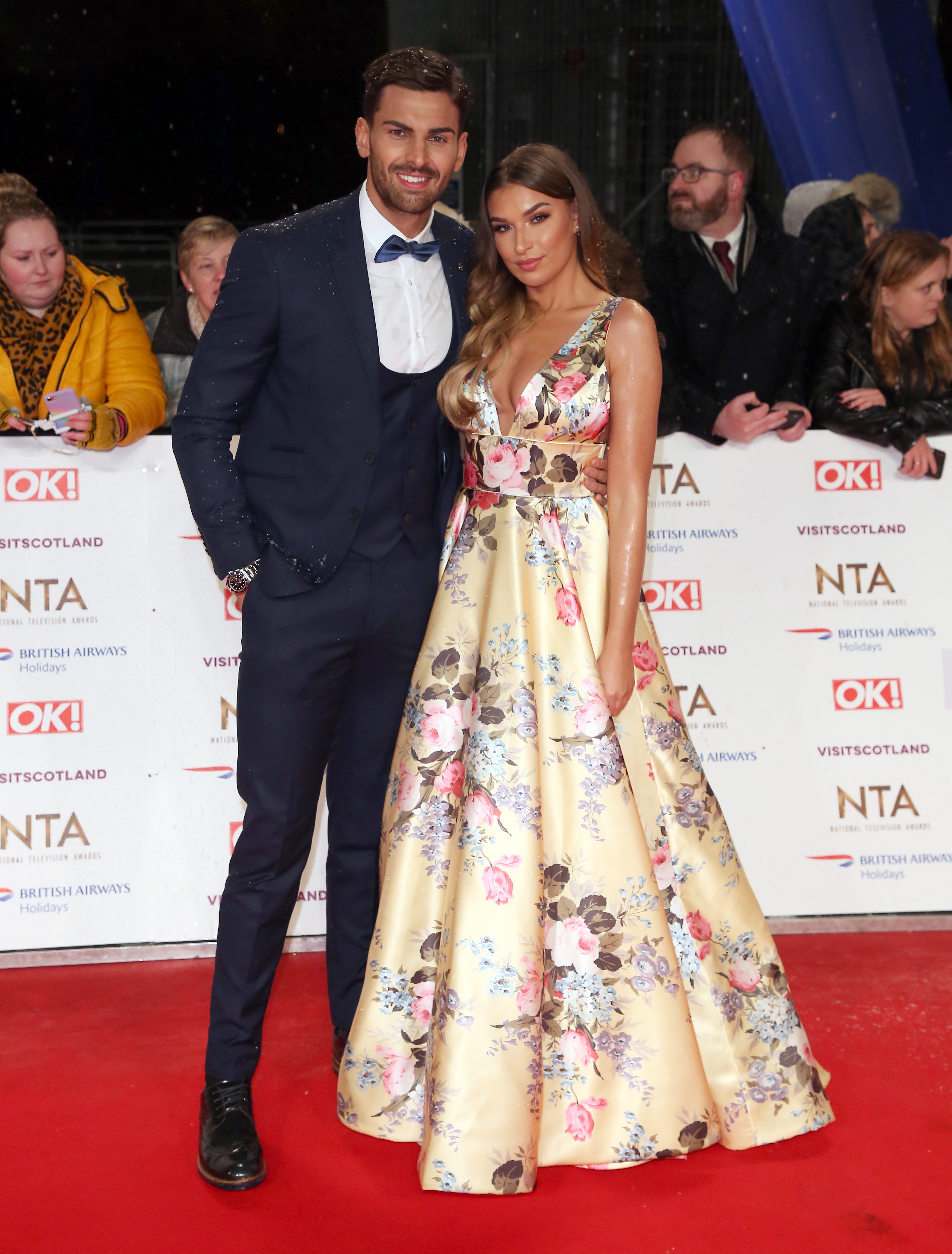 Adam Collard and Zara McDermott at The National Television Awards 2019