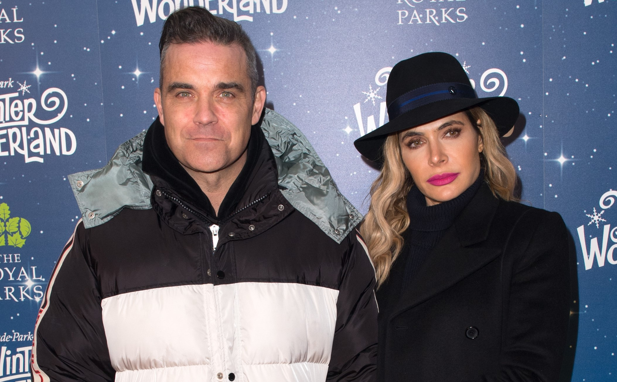 Robbie Williams and wife Ayda Field at the Hyde Park Winter Wonderland