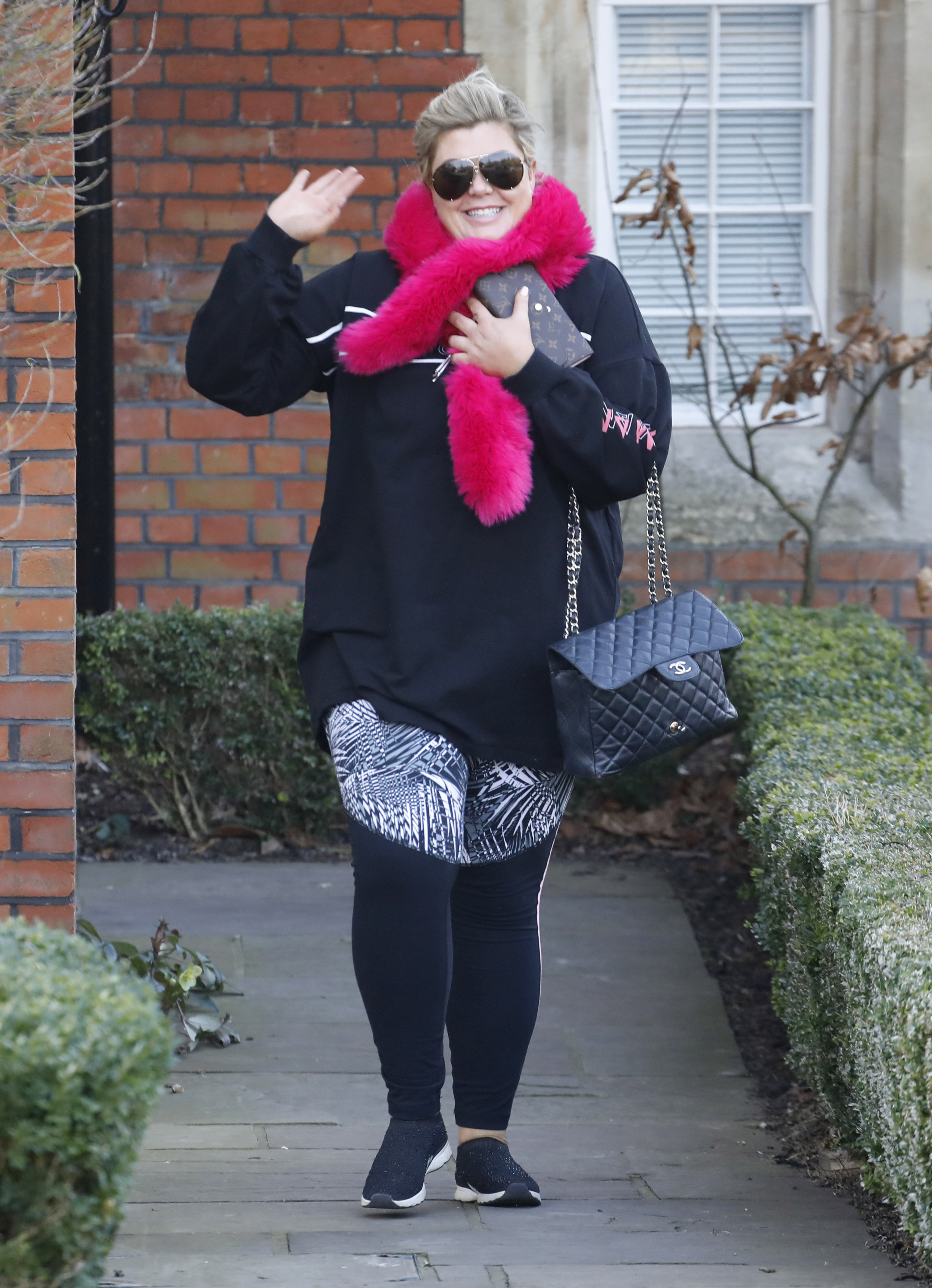 Gemma Collins Is All Smiles As She Is Seen Leaving Her Home Heading To The Dancing On Ice Studios